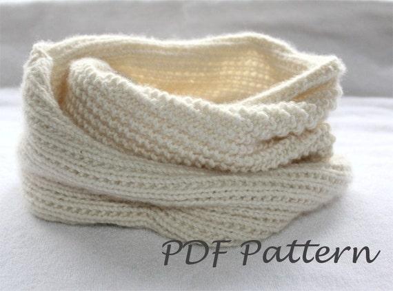 Easy Knitting Pattern Snood Knitting Infinity Scarf Pattern