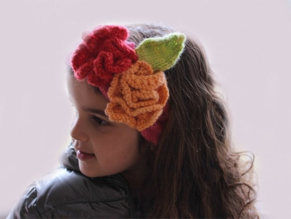 Knitting Pattern Flower Headband Knitting Pattern From