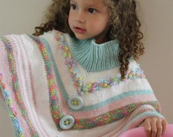 KNITTING PATTERN- Fun Toddler Poncho pdf file
