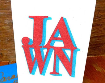"Philadelphia Philly Hometown Card ""Jawn"" like Love Park Sign - Designer Greeting Card"