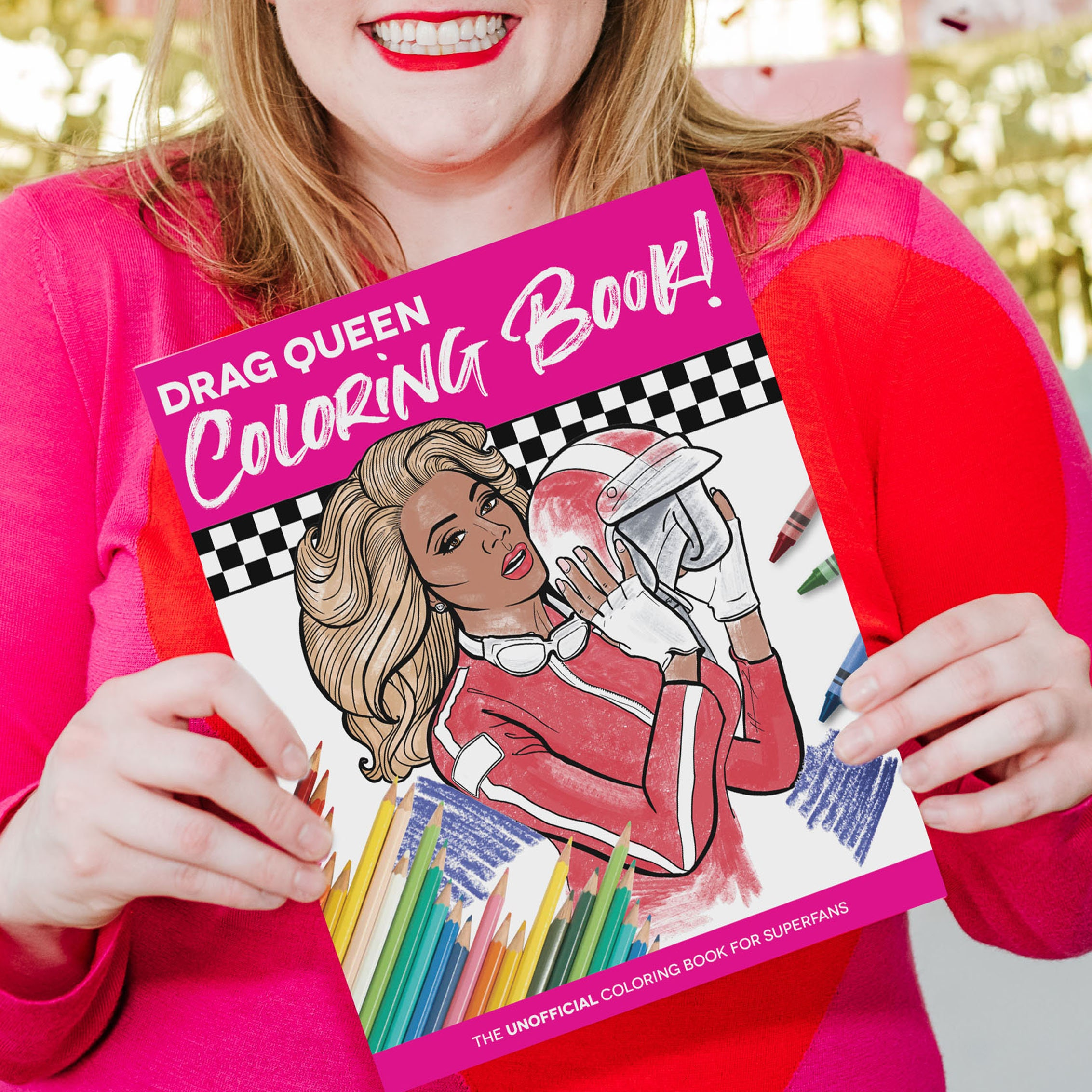 Drag Queen Adult Coloring Book   Unofficial Fan Book   Drag Fan