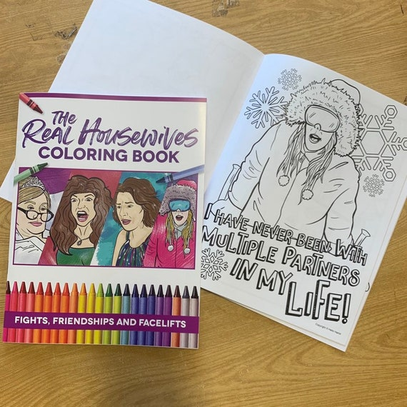 Best Of Real Housewives Adult Coloring Book Coloring Books Etsy