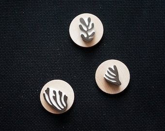 Matisse Cut Outs - 03 - Set of Three Hand-Carved Rubber Stamps
