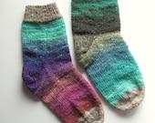 Jewels Colour Block Hand Knit Women's Socks Size 7.5 - 8 - 8.5