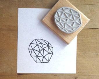 Crystal Configuration 39 - Hand Carved Stamp