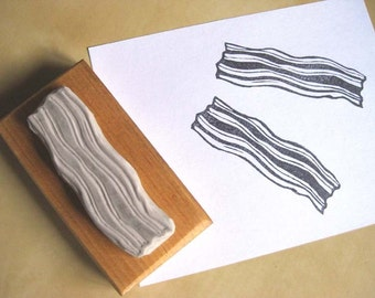Bacon - Hand Carved Stamp