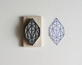 Crystal Configuration 37 - Hand Carved Stamp