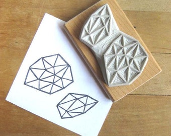 Crystal Configuration 25 - Hand Carved Stamp