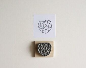 Crystal Configuration 24 - Hand Carved Stamp