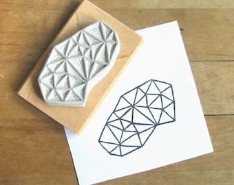 Crystal Configuration 30 - Hand Carved Stamp