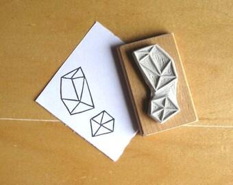 Crystal Configuration 14 - Hand Carved Stamp