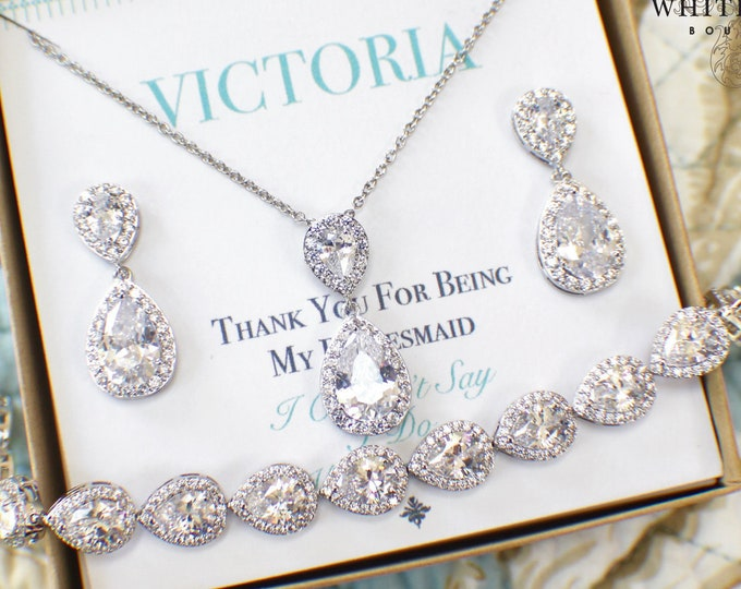 Bridesmaid Jewelry | Bridesmaid Sets | Bridal Sets | Bridesmaid Gifts | Personalized Gifts | Wedding Jewelry Sets | Wedding Party Gifts
