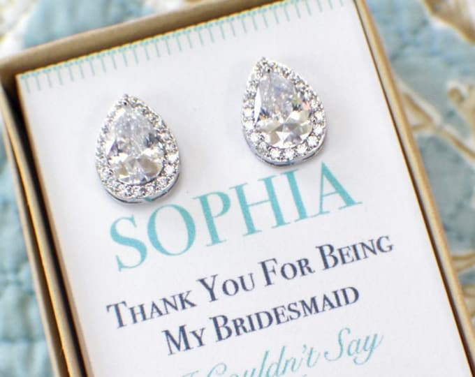 Bridesmaid Earrings | Bridesmaid Jewelry | Bridesmaid Gifts | Personalized Gifts | Wedding Party Gifts | Bridesmaid Jewelry Set