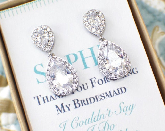 Bridesmaid Earrings Personalized Bridesmaid Gift Bridesmaid Jewelry Set Bridesmaid Necklace Earrings Bracelet Set Bridal Party Gift
