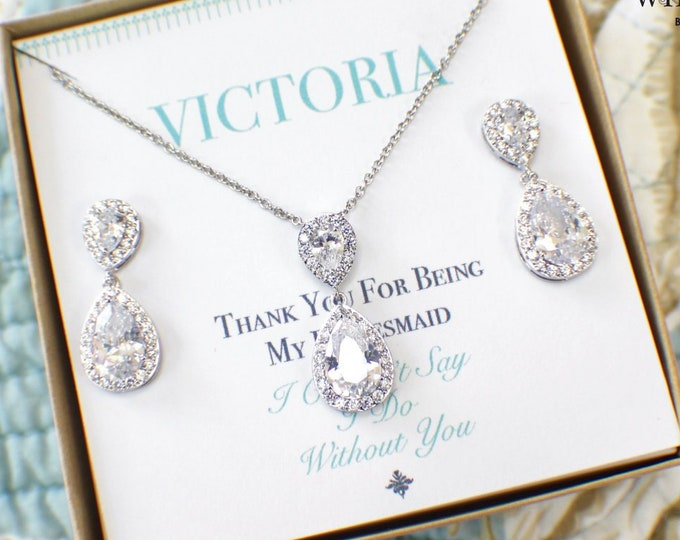 Bridesmaid Sets | Bridesmaid Jewelry | Personalized Bridesmaid Gifts | Bridesmaid Earrings | Bridal Sets | Wedding Jewelry