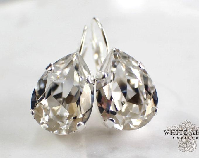 Swarovski Crystal Bridal Earrings Vintage Style Crystal Bridal Earrings Bridesmaids Gifts Wedding Jewelry Special Occasion Jewelry