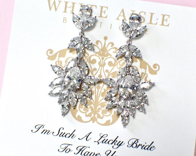 Bridesmaid Earrings | Bridesmaid Gifts | Bridesmaid Jewelry | Personalized Gifts | Chandelier Earrings