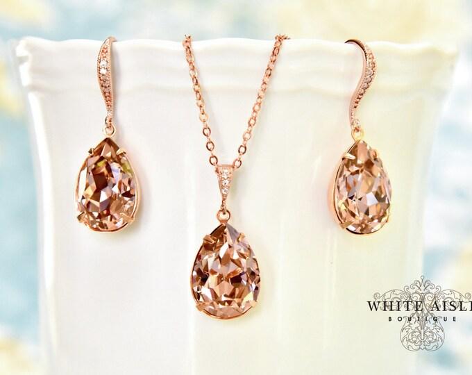 Bridesmaid Gifts | Rose Gold Bridesmaid Jewelry Set | Bridesmaid Sets | Personalized Gift | Bridesmaid Necklace Earrings Bracelet Set