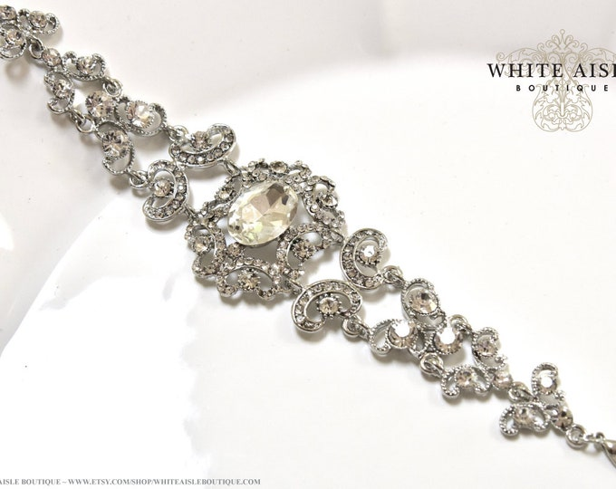 Crystal Bridal Bracelet Victorian Style Wedding Rhinestone Bracelet Special Occasion Jewelry Bridesmaids Bridal Party Gifts