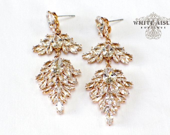 Vintage Style Earrings Cubic Zirconia Earrings Bridesmaids Gift  Wedding Jewelry Vintage Style Bridal Bridesmaids Bridal Party Gifts