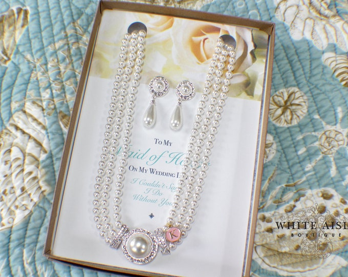 Bridesmaid Gift | Bridesmaid Jewelry | Bridesmaid Jewelry Set | Personalized Bridesmaid Gifts | Bridesmaid Earrings Bracelet Set