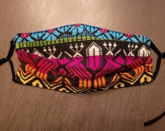 READY TO SHIP Multi-Color  Guatemalan fabric mask- Part of my sales will be donated to a Guatemalan Charity
