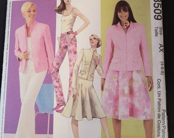 McCalls 3509 - Jacket, Top, Skirt and Pant pattern