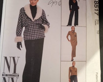 McCalls 8617 - Jacket, Top, Skirt and Pant pattern