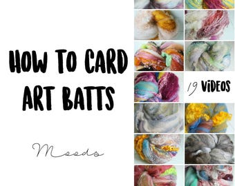 19 HD Videos for CARDING Moods - How to Card Art Batts Inspired by Emotion - 2.5 Hour Masterclass