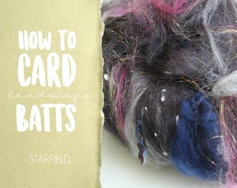 How to Card STARFIELD Art Batt on a Drum Carder - One Technique from Carding Landscapes Masterclass