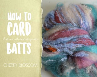 How to Card CHERRY BLOSSOMS Art Batt on a Drum Carder - One Technique from Carding Landscapes Masterclass