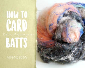 How to Card ALPENGLOW Art Batt on a Drum Carder - One Technique from Carding Landscapes Masterclass