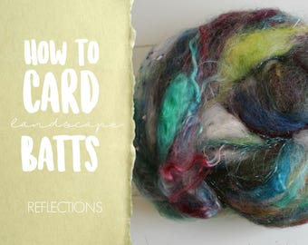 How to Card REFLECTIONS Art Batt on a Drum Carder - One Technique from Carding Landscapes Masterclass