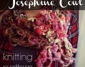 Josephine Cowl Knitting Pattern for Handspun Art Yarn for Beginners