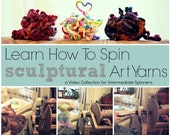 How to Spin Yarn - Sculptural Corespinning Technique Video Collection (3 videos / 25 minutes) - ON SALE