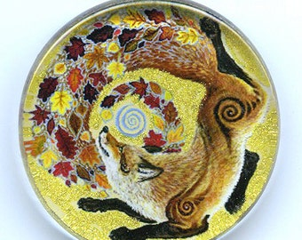 Autumn Fox Spirit Totem Pendant