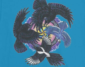 Crow Raven Magpie Jay Totem T-Shirt