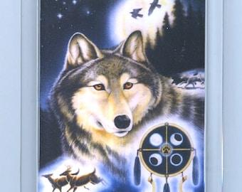 Spirit Wolf Raven Deer Totem Key Chain