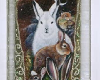 Hare Rabbit Totem Pendant