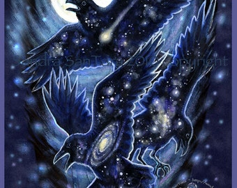 Star Raven Magic Print