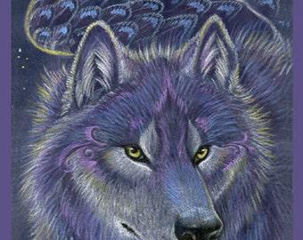 Winged Wolf Print