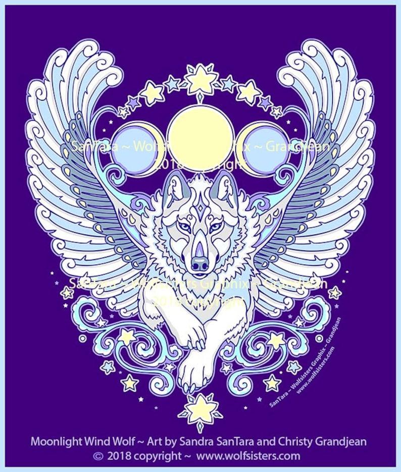 Angel Winged White Wolf Tee image 0