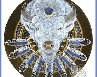 White Buffalo Totem Spirit Print