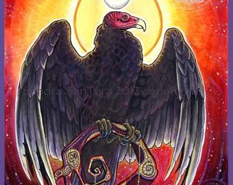 Vulture Goddess Print