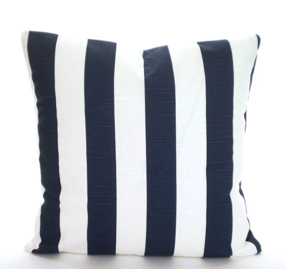 Navy Stripe Pillow Cover Decorative Pillows Cushion Covers Etsy Stunning Sheffield Home Decorative Pillows