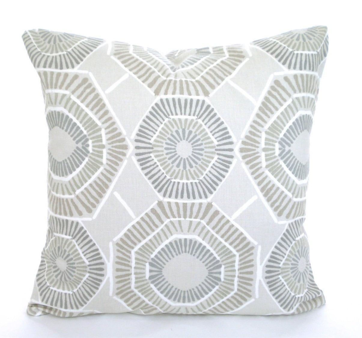 Taupe Tan Gray Pillow Covers Decorative Throw Pillows Tan