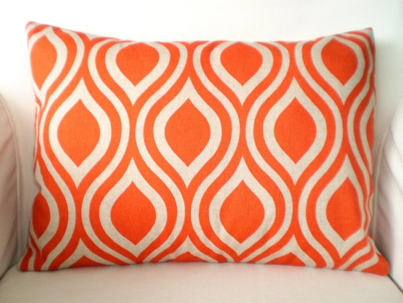 Awesome Orange Pillow Cover Lumbar Throw Pillows Decorative Cushion Covers Orange On Darker Natural Nicole Couch Bed Sofa One 12 X 16 Or 12 X 18 Spiritservingveterans Wood Chair Design Ideas Spiritservingveteransorg