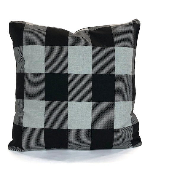 Pleasing Farmhouse Gray Black Buffalo Check Decorative Throw Pillow Covers Cushions Grey Black Buffalo Plaid Check Couch Bed Sofa Various Sizes Dailytribune Chair Design For Home Dailytribuneorg