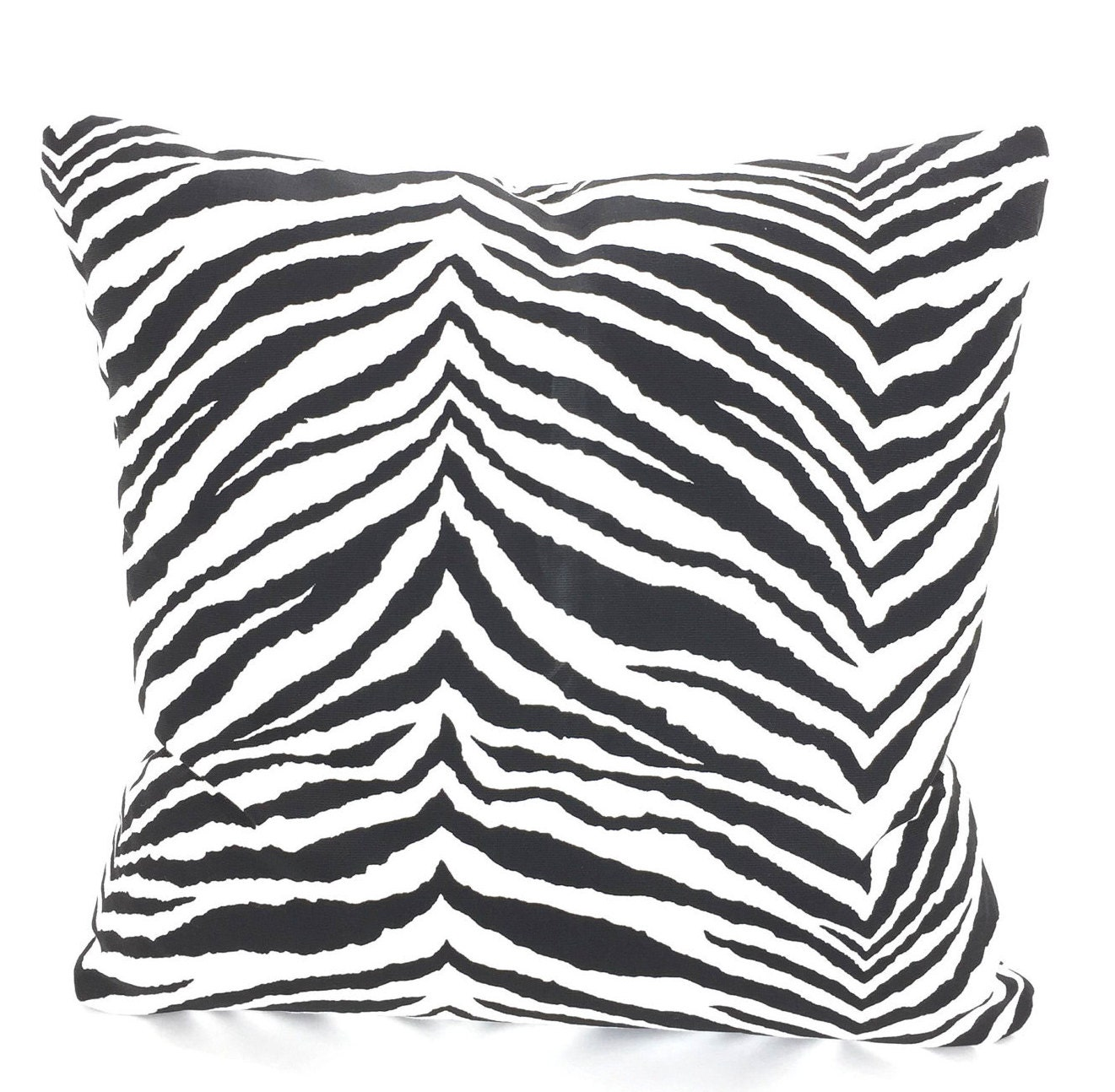 Black White Zebra Pillow Cover Decorative Throw Pillows Cushions Black White Zebra Euro Sham Couch Bed Sofa One Or More All Sizes