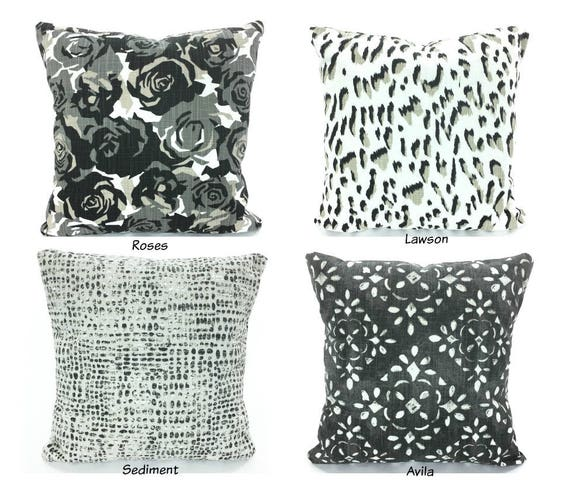 Stupendous Decorative Pillow Covers Throw Pillows Cushions Black Tan Gray White Cotton Slub Canvas Linen Look Couch Bed Pillows All Sizes Mix Match Frankydiablos Diy Chair Ideas Frankydiabloscom